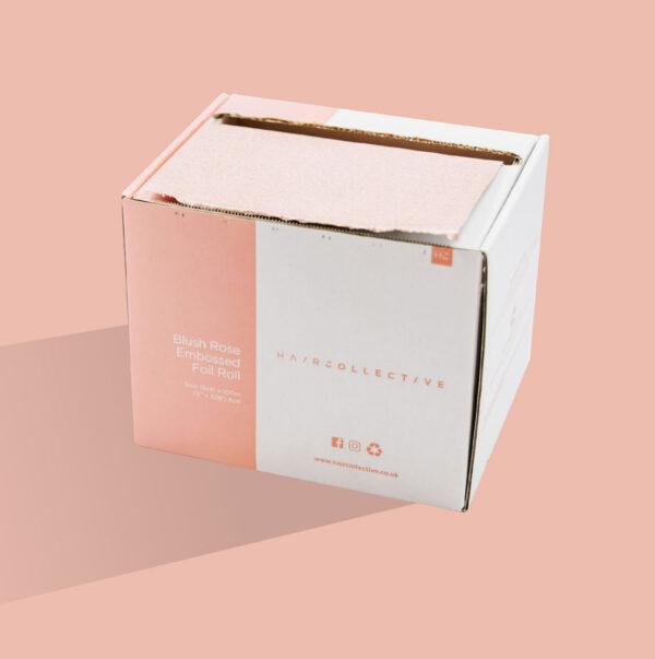 "Roll 5"" x 320' / 13cm x 97.5m Blush Matt Embossed Foil - BOX OF 12"